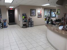 Parts Department to the left, Reception Desk, Waiting Lounge, and Service Department to the right!