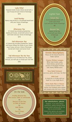 Four Seasons Tea Room | MENU