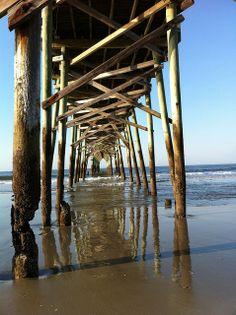 Holden Beach pier on the coast of North Carolina.