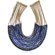 ROSANTICA Raissa Necklace (975 SGD) ❤ liked on Polyvore featuring jewelry, necklaces, blue, blue jewelry, rosantica and blue necklace