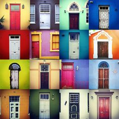 These colourful photomontages were created by Capetonian illustrator and animator Dylan van Loggerenberg. This is a montage of doors I took from around . Artsy Photos, Cool Photos, Mimi Photo, Cape Town Photography, South African Design, Cape Town South Africa, Africa Art, Unique Doors, Beautiful Sites