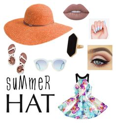 """""""Summer Hat"""" by thejen04 ❤ liked on Polyvore featuring Tory Burch, Betmar, Jaeger, Lime Crime and summerhat"""