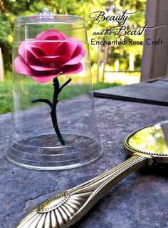 Disney Crafts for kids - Beauty and the Beast Enchanted Rose
