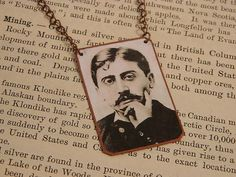 Marcel Proust necklace mixed media jewelry literature literary