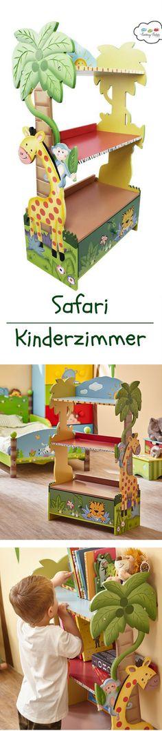 🐘 Kinderregal Spielzeugbox Spielzeugkiste mit Dschungel Motiv ... | {Kinderzimmereinrichtung 25}