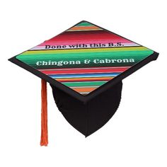 Shop Custom Spanish Serape Mexican Blanket Personalized Graduation Cap Topper created by DelikatDesign. Funny Grad Cap Ideas, Funny Graduation Caps, Graduation Cap Toppers, Graduation Leis, Graduation Cap Designs, Graduation Cap Decoration, Graduation Picture Poses, College Graduation Pictures, Graduation Photoshoot