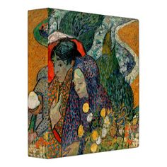 Memory of the Garden at Etten by Vincent Van Gogh 3 Ring Binder