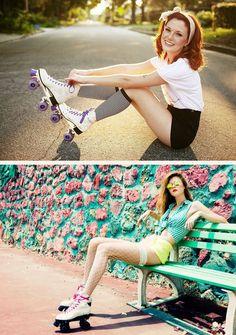 patins-9 Roller Disco, Roller Derby, Retro Roller Skates, Roller Rink, Roller Skating, Skater Girl Outfits, Skate Girl, Foto Pose, Photography Poses