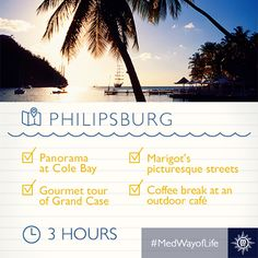 A tropical winter paradise awaits on the sandy beaches of Philipsburg. Msc Cruises, North Cascades National Park, Outdoor Cafe, Cruise Destinations, Cruise Port, Sandy Beaches, Caribbean, Beautiful Places, National Parks