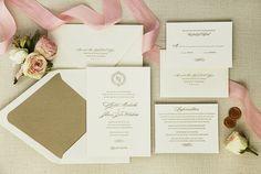 Letterpress Wedding Invitation by SweetlySaidPress on Etsy