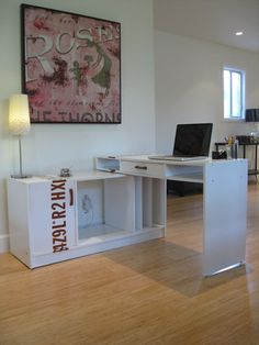 I don't want this exact one.. but what a great idea for a DYI corner desk..
