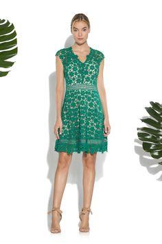 Jade Guipure Lace Buchanan Dress