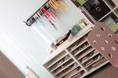 Out of the box scrapbook room organization ideas