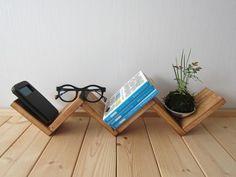 木の飾りラック(ウォルナット) - 作房和樂