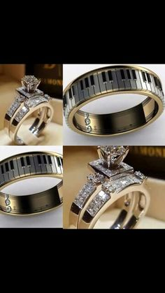 Wedding Bands With Musical Accents