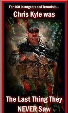 Chris Kyle: The Last Thing They Never Saw – The National Patriot, a true American hero. Military Quotes, Military Life, Military History, Military Salute, Military Box, Military Personnel, I Love America, God Bless America, Gi Joe