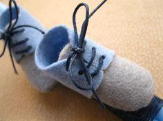 Baby Blue Boots Baptism/Easter Lambada Handmade by Eikosi2 on Etsy
