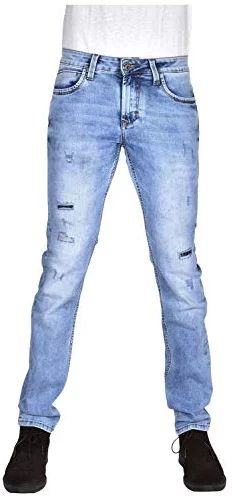 YellowJeans Men's Slim Fit Jeans (Ice Cloud wash Effect with Ripped and Repaired Styling, 28W x 42L) Yellow Jeans, Slim Man, Jeans Fit, Denim, Fitness, Pants, Fashion, Trouser Pants, Moda