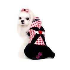 CHECKED ANGEL DOG DRESS