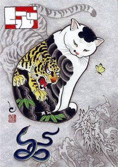 by Kazuaki Horitomo #CatArt