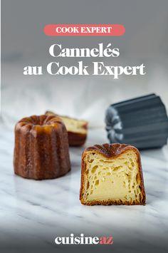 Les cannelés sont une pâtisserie bordelaise. Voici une recette facile pour en préparer au Cook Expert. #recette #cuisine #cannele #patisserie #gastronomiefrancaise #robotculinaire #CookExpert Voici, Robot, Muffin, Pudding, Cooking, Breakfast, Desserts, Tasty Food Recipes, Drizzle Cake
