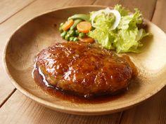 照り焼きポークハンバーグ|ひよこ食堂