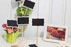 12pc Mini Chalk Board Set deal in Art Get a 12-piece set of mini chalk boards to write or doodle on.  Perfect for weddings, parties or simply around the house decorations.  Going back to work or university? Use your blackboards for reminders.  Made of wood and self-standing with stylish attachable platforms.  Room to write with 8cm by 5cm blackboard. 18cm from base to top. BUY NOW for just £9.00 Check more at http://nationaldeal.co.uk/12pc-mini-chalk-board-set-deal-in-art/