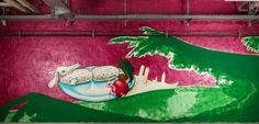 caratart Episode 2: Graffiti Kunst der Münchner Streetart Künstler LOOMIT und LawOne in der Tiefgarage des carathotel München. / caratart Episode 2: Graffiti art by the munich streetart artists LOOMIT and LawOne in the carathotel Munich underground parking.