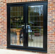 Front view of closed black Aluminium French Doors from Everest - May 04 2019 at Informations About Front view of closed black Aluminium French Doors from Everest - May 04 2019 at . Pin You c Black French Doors, Internal French Doors, Paint For Kitchen Walls, Kitchen Wall Decals, Country Front Porches, Aluminium French Doors, Weatherboard House, French Door Curtains, Barn Style Doors