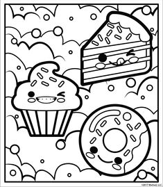 Cute girl coloring pages to download and print for free. Spring time ...