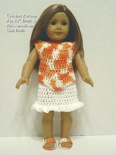 American Girl Clothes Crochet on Pinterest American Girl ...