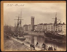 Bristol harbor, much of which was covered over. 1850s to 1870s by Francis Frith or one of his traveling employees.