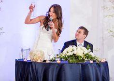 wedding. bride can make a toast, too!