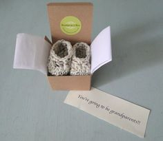 The Original Booties in a Box™ My shop is a crochet shop bringing you beautiful handmade baby items. My work has been featured in Pregnancy and Baby On The Way, Baby Love, Grandparent Pregnancy Announcement, Pregnancy Announcements, Gender Reveal Gifts, Baby Boy Booties, Handmade Baby Items, Baby Gift Box, Baby Gender