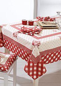 Christmas decorations: last minute ideas!- Addobbi natalizi: idee last minute! Linen Tablecloth, Table Linens, Tablecloths, Bed Cover Design, Last Minute, Table Toppers, Decoration Table, Chair Covers, Table Runners