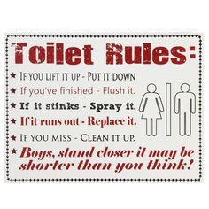 Bathroom Sign Quotes toilet rules | creating stuff | pinterest | toilet, downstairs