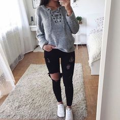 Trend Fashion: Trendy outfits to enhance the look in the fall season . - Trend Fashion: Trendy outfits to enhance the look in the fall season … the # - Casual Winter Outfits, Warm Outfits, Casual Summer, Casual Wear, Spring Outfits, Comfy Casual, Summer Tops, Simple Outfits, Tumblr Outfits