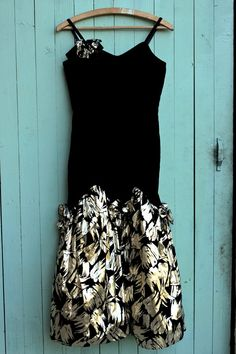 Vintage 1980's Black Velvet Strappy Party Dress by TinCupVintage, £30.00