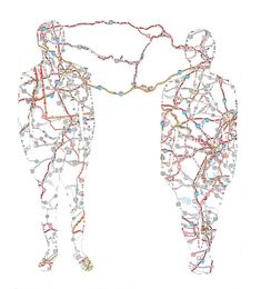 Nikki Rosato creates portraits by cutting roads in maps as Matthew Cusick but with a quite different result.