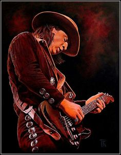 Stevie Ray Vaughan Art by Theo Reijnders 🎸 Rock And Roll Artists, Hard Rock Music, William Christopher, Stevie Ray Vaughan, Blues Music, Blues Rock, Music Photo, Great Bands, Art Music