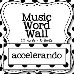 This is a music word wall set that has 212 vocabulary words! It also includes 10 blank cards in case you want to add words of your own. I have included a pic on the side column of how to get the most out of your print job when you run these off!