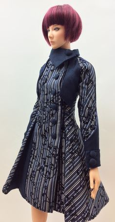 Lily Coat '' Blue Arabesque '' (OS-163) OUGI SAIGON order-made studio for 1/3 scale Doll