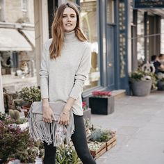 Fringe Clutch | The White Company. Shopping from the US? -> http://us.thewhitecompany.com/Clothing/Bags-%26-Purses/Fringe-Clutch/p/FCCCL?swatch=Stone