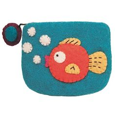 Felt Coin Purse Gold Fish