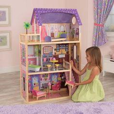 Casa de muñecas de madera modelo Kayla de Kidkraft de bonito diseño para decoración en habitación de niñas y juego. Ideal para muñecas Barbie