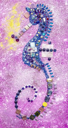 Seahorse With Fusia Water by lalainyastream on Etsy, $2000.00