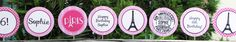 Paris Party Cupcake Toppers
