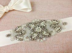 COLETTE  Bridal sash  Bridal belt  Crystal Wedding by GarterQueen, $79.99