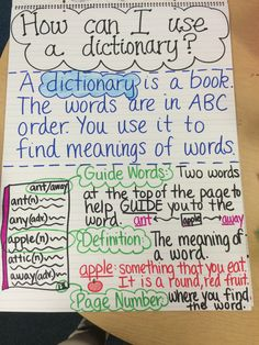 Dictionary Anchor Chart                                                                                                                                                                                 More
