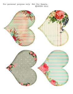 All sizes | free printable shabby hearts by fptfy | Flickr - Photo Sharing!